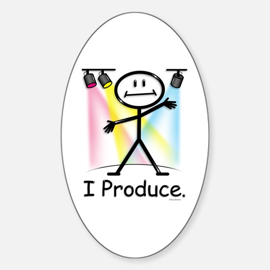 Theater Play Producer Oval Decal