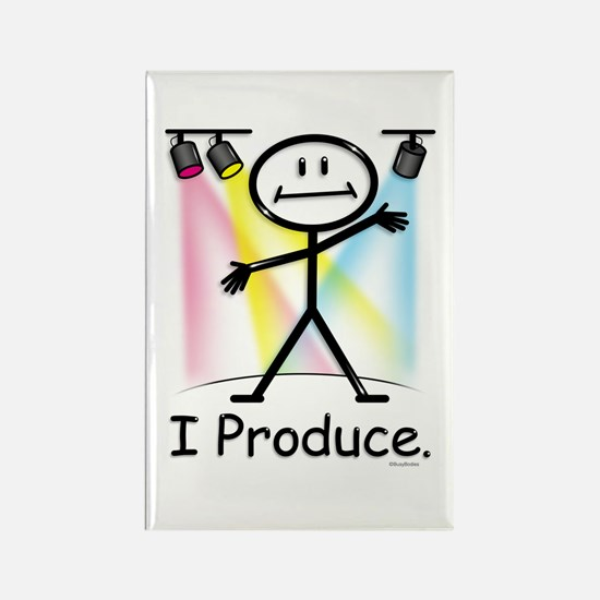 Theater Play Producer Rectangle Magnet