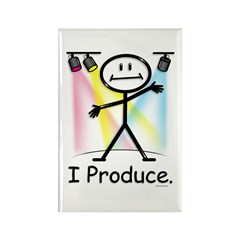 Theater Play Producer Rectangle Magnet (100 pack)