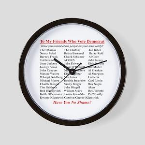 """Dems Hall of Shame"" Wall Clock"