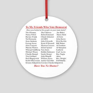 """Dems Hall of Shame"" Ornament (Round)"