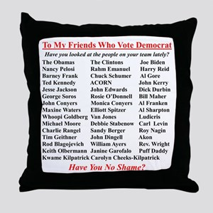 """Dems Hall of Shame"" Throw Pillow"