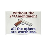 2nd Amendment Rectangle Magnet (100 pack)