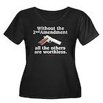 2nd Amendment Women's Plus Size Scoop Neck Dark T-