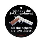 2nd Amendment Ornament (Round)