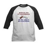 2nd Amendment Kids Baseball Jersey