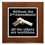 2nd Amendment Framed Tile