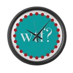 what the fig? Large Wall Clock