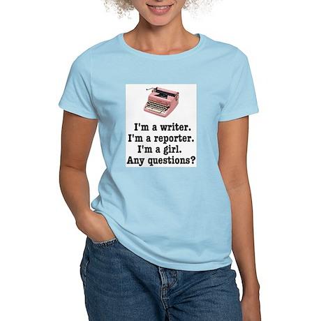 Pink Typewriter Women's Light T-Shirt