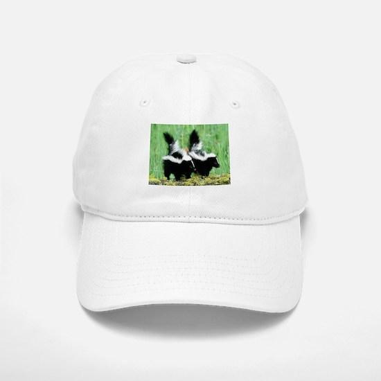 Two Skunks Baseball Baseball Cap