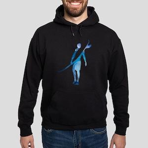 Surfer, Wave Silhouette Hoodie Sweatshirt