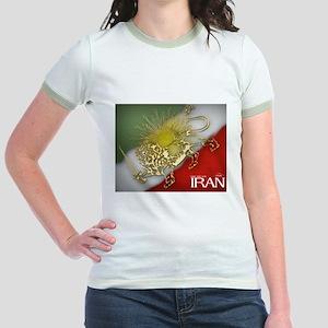 Iran Golden Lion & Sun Jr. Ringer T-Shirt