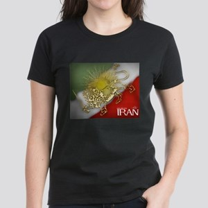 Iran Golden Lion & Sun Women's Dark T-Shirt