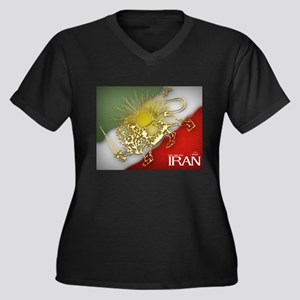 Iran Golden Lion & Sun Women's Plus Size V-Neck Da