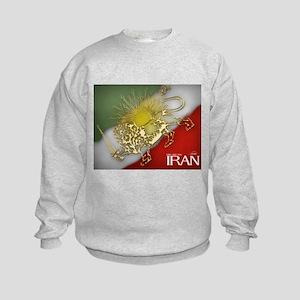 Iran Golden Lion & Sun Kids Sweatshirt