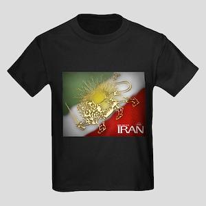 Iran Golden Lion & Sun Kids Dark T-Shirt