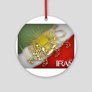 Iran Golden Lion & Sun Ornament (Round)
