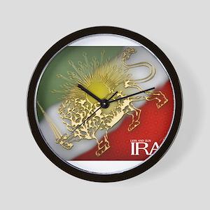 Iran Golden Lion & Sun Wall Clock