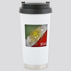 Iran Golden Lion & Sun Stainless Steel Travel Mug