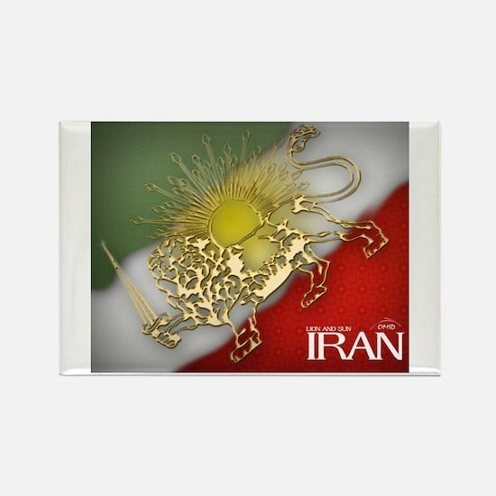 Iran Golden Lion & Sun Rectangle Magnet