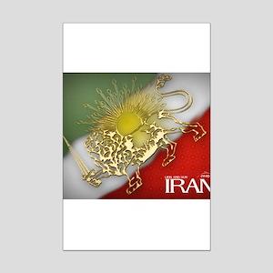 Iran Golden Lion & Sun Mini Poster Print