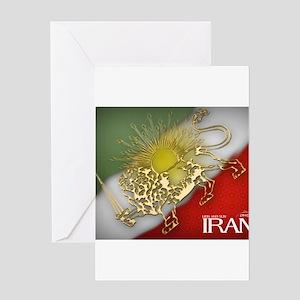 Iran Golden Lion & Sun Greeting Card