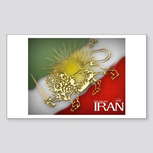 Iran Golden Lion & Sun Rectangle Sticker