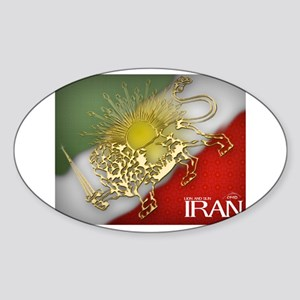 Iran Golden Lion & Sun Oval Sticker
