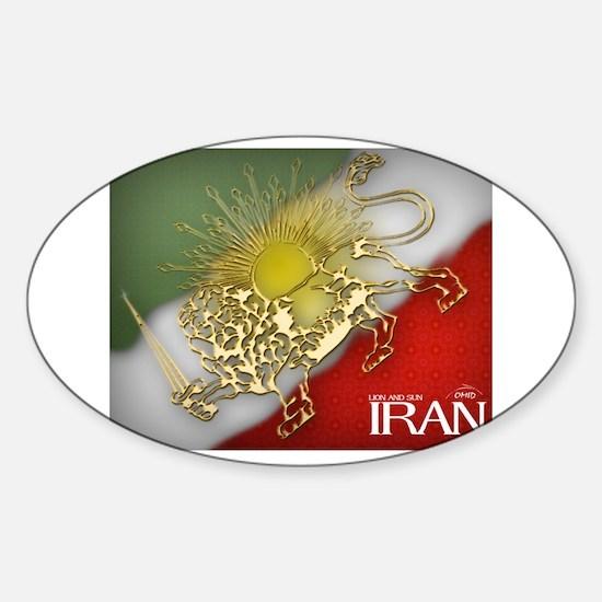 Iran Golden Lion & Sun Oval Decal
