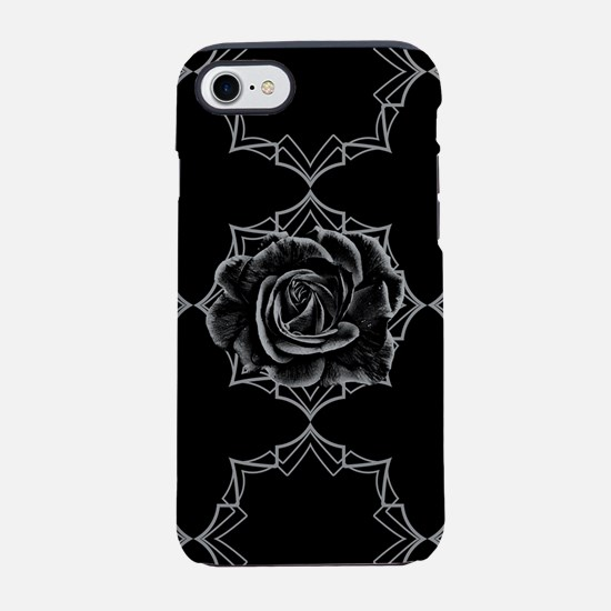 Black Rose On Gothic iPhone 7 Tough Case