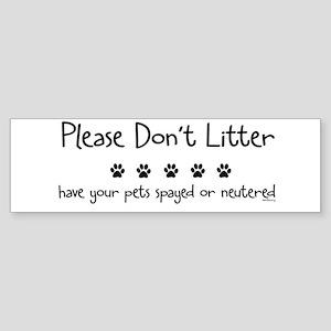 Please Dont Litter Sticker (Bumper)