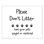 Please Dont Litter Small Poster