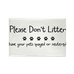 Please Dont Litter Rectangle Magnet (100 pack)