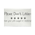 Please Dont Litter Rectangle Magnet (10 pack)