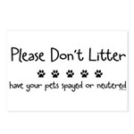 Please Dont Litter Postcards (Package of 8)