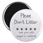 Please Dont Litter Magnet