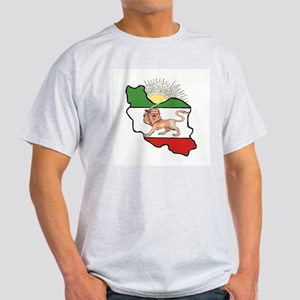 Iran Flag-Map & Sun Light T-Shirt