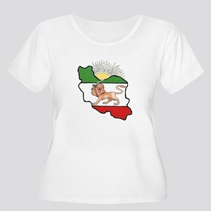 Iran Flag-Map & Sun Women's Plus Size Scoop Neck T