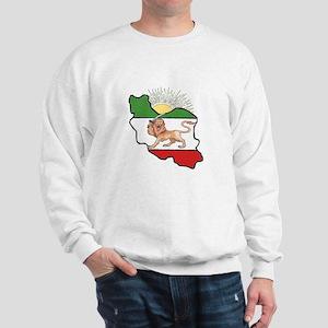 Iran Flag-Map & Sun Sweatshirt