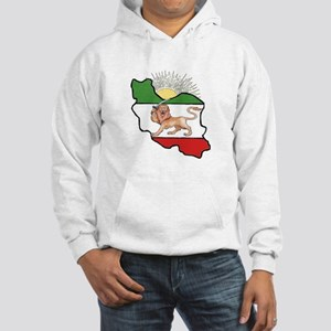 Iran Flag-Map & Sun Hooded Sweatshirt