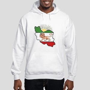 Iran Flag-Map & Sun Hooded Sweatshirt