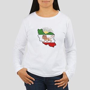 Iran Flag-Map & Sun Women's Long Sleeve T-Shirt