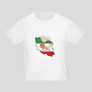 Iran Flag-Map & Sun Toddler T-Shirt