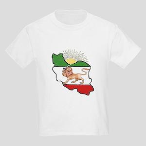 Iran Flag-Map & Sun Kids Light T-Shirt