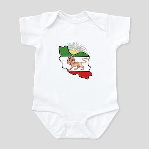 Iran Flag-Map & Sun Infant Bodysuit