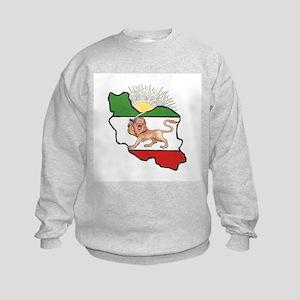 Iran Flag-Map & Sun Kids Sweatshirt