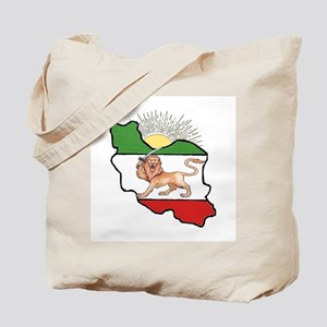 Iran Flag-Map & Sun Tote Bag
