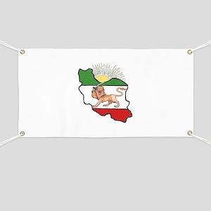 Iran Flag-Map & Sun Banner