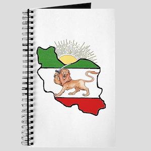 Iran Flag-Map & Sun Journal