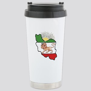 Iran Flag-Map & Sun Stainless Steel Travel Mug